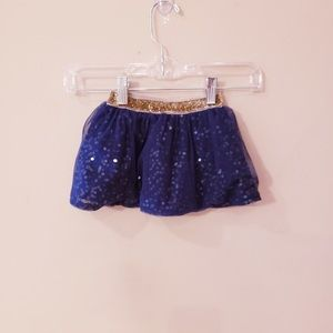 [OshKosh B'gosh] Navy blue sequin skirt